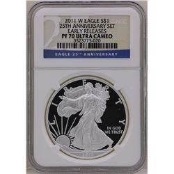2011-W $1 American Silver Eagle Proof Coin NGC PF70 Ultra Cameo Early Releases
