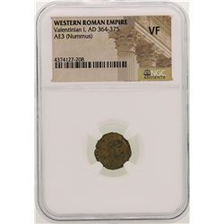 Valentinian I 364-375 AD Ancient Western Roman Empire Coin NGC VF