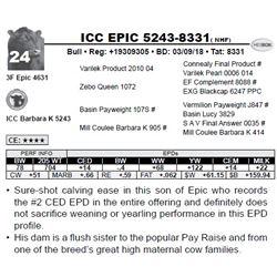 ICC EPIC 5243-8331( NHF)