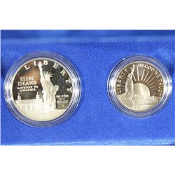 1986 US LIBERTY 2 COIN PROOF SET