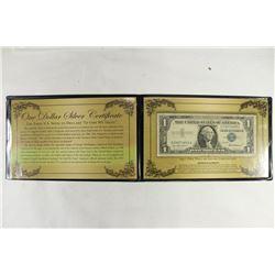 1957 $1 SILVER CERTIFICATE IN FOLIO AS SHOWN
