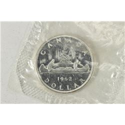 1962 CANADA SILVER DOLLAR BRILLIANT UNC