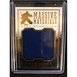Cory Schneider 2014-15 Panini Anthology Massive Materials Game Worn Jersey