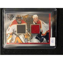 2004 LUXURY SUITE GAME USED FABRICS HOCKEY (LUONGO/ BOUWMEESTER)