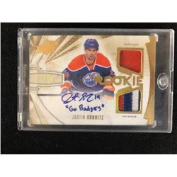 JUSTIN SCHULTZ ROOKIE PATCH AUTO HOCKEY CARD