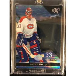 Patrick Roy 2014-15 UD Fleer Ultra EX Credentials NOW Legends (#5/14)