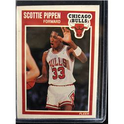 1989-90 Fleer #23 Scottie Pippen Bulls (2nd Year)