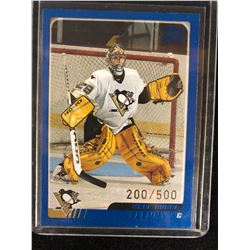 2003 O-Pee-Chee #340 Marc-Andre Fleury Rookie Hockey Card