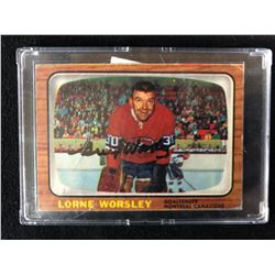 1966-67 TOPPS #2 GUMP WORSLEY SIGNED HOCKEY CARD W/ COA