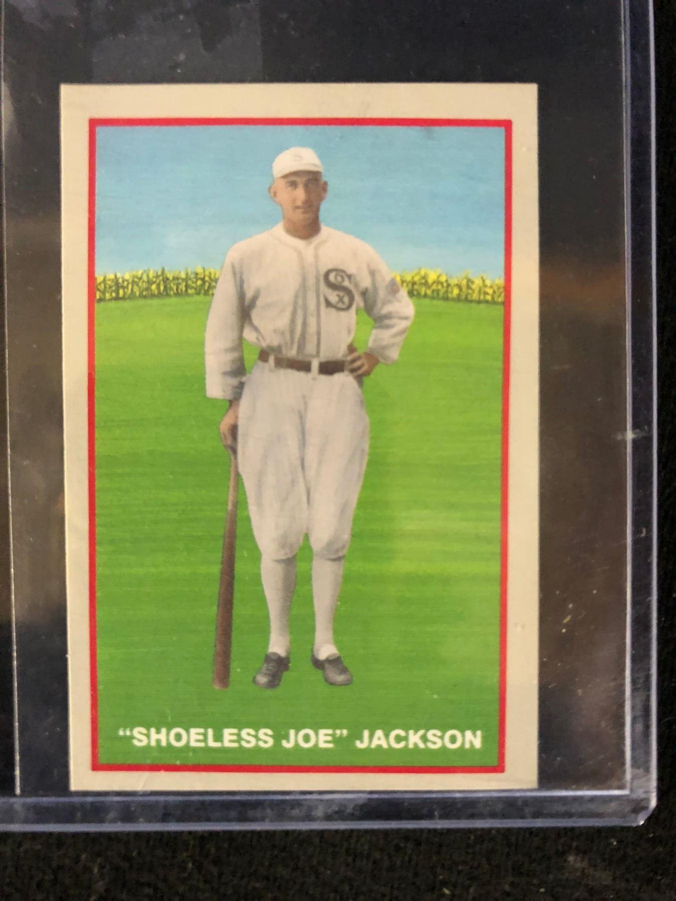 1933 Shoeless Joe Jackson Baseball Card Reprint
