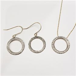 10K YELLOW GOLD EARRING AND NECKLACE SET