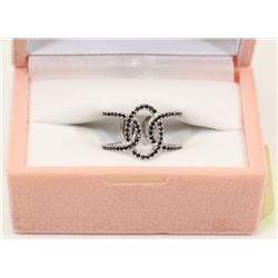 STERLING SILVER CUBIC ZIRCONIA RING SIZE 6.75