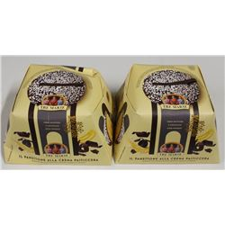 LOT OF 2 TRE MARIE DARK CHOCOLATE COATED PASTRIES