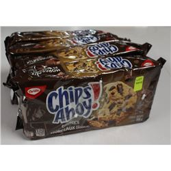4 PACKS OF CHIPS AHOY! CHUCKS COOKIES