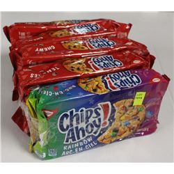 5 PACKS OF CHIPS AHOY! COOKIES - CHEWY/RAINBOW