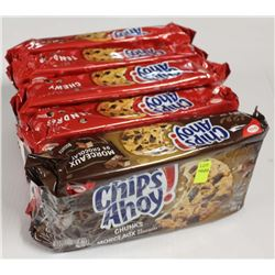 5 PACKS OF CHIPS AHOY! COOKIES- CHUNKS/CHEWY