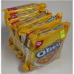 5 PACKS OF GOLDEN OREO COOKIES