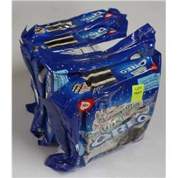 4 PACKS OF PEPPERMINT BARK OREO COOKIES