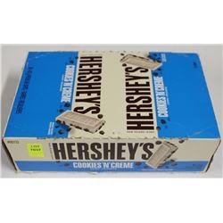 BOX OF HERSEY'S COOKIES AND CREAM BARS