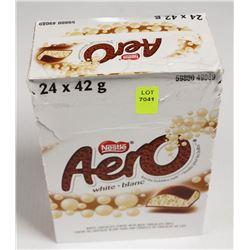 BOX OF AERO WHITE CHOCOLATE BARS