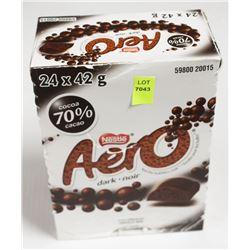BOX OF AERO DARK CHOCOLATE BARS