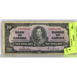 1937 CANADIAN 10 DOLLAR BILL