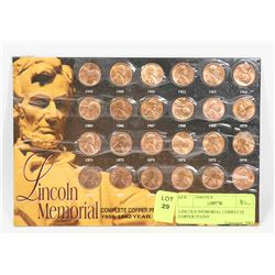 LINCOLN MEMORIAL COMPLETE COPPER PENNY