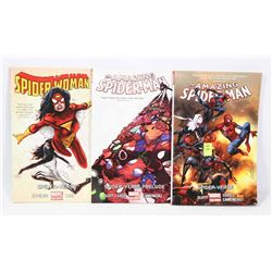 LOT OF 3 SPIDERMAN GRAPHIC NOVELS INCLUDING