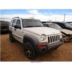 2002 - JEEP LIBERTY // SALVAGE TITLE