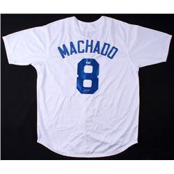 Manny Machado Signed Dodgers Jersey (Beckett COA)