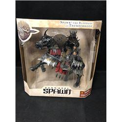 NEW IN BOX TODD MCFARLANE DARK AGES OF SPAWN MODEL SPAWN....