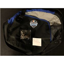 2010 VANCOUVER OLYMPIC NBC PIN AND SHOULDER BAG