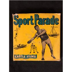 """Castle Films 8mm Complete Edition Film Reel mint in box """"Sport Parade"""""""