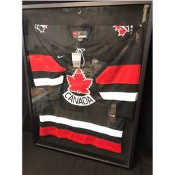 MARK MESSIER SIGNED AND FRAMED TEAM CANADA JERSEY ( STEINER COA)
