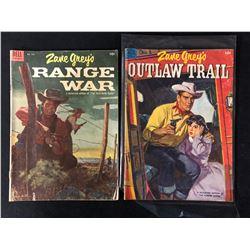 ZANE GREY COMIC BOOK LOT( RANGE WAR/ OUTLAW TRAIL)
