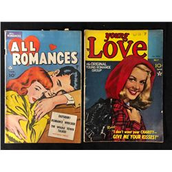 ALL ROMANCES AND YOUNG LOVE COMIC BOOK LOT