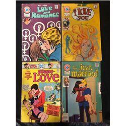 SILVER AGE LOVE AND ROMANCE COMIC BOOK LOT