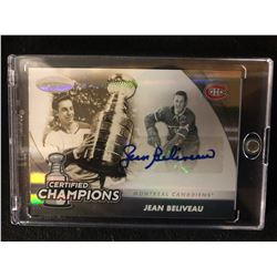 2011 Panini Certified Champions Mirror Gold #20 Jean Beliveau Montreal Canadiens