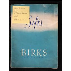 1943 BIRKS JEWELLERS CANADA 48TH ANNUAL YEARBOOK (40 PAGES)