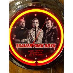 TRAILER PARK BOYS NEON CLOCK ( NEW IN BOX)