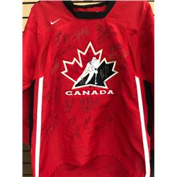 2004 TEAM CANADA WORLD CUP HOCKEY JERSEY SIGNED BY 23 PLAYERS (CS COA)