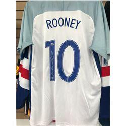 WAYNE ROONEY SIGNED ENGLAND JERSEY ( BECKETT COA)