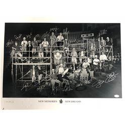 "TORONTO MAPLE LEAFS ""NEW MEMORIES / NEW DREAMS"" TEAM AUTOGRAPHED 30"" X 20"" PRINT (JSA COA)"