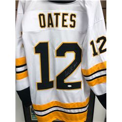 """Adam Oates Signed Blues Jersey Inscribed """"HOF 12"""" (JSA COA)"""