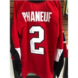 Dion Phaneuf Signed Senators Jersey (Beckett COA)