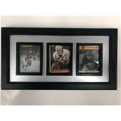 AUTOGRAPHED MIKE BOSSY CARD DISPLAY
