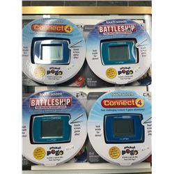 BATTLESHIP THE TACTICAL COMBAT GAME/ CONNECT 4 LOT (POCKET POGO)