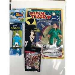 MISC TOY LOT (ACTION FIGURE/ KEYCHAIN...)