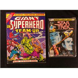 COMIC BOOK LOT (GIANT SUPER-HERO TEAM UP/ STAR TREK #1)