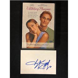 Matthew McConaughey Signed Index Card W/ Wedding Planner DVD